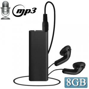 Mini enregistreur vocal 3 en 1 + disque flash de 8 Go + lecteur MP3 (noir) SH02071976-20