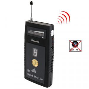 Détecteur de signal RF / Détecteur de caméra sans fil et filaire / Détecteur de bogues / Dispositifs de radiofréquence avec affichage de la sensibilité numérique (SH-055U8L) (Noir) SH101289-20