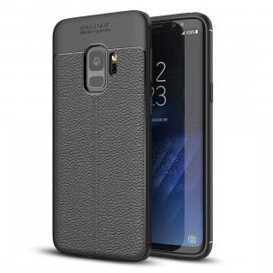 Pour Samsung Galaxy S9 Litchi Texture souple TPU Anti-skip housse de protection arrière, petite quantité recommandé avant Samsung Galaxy S9 lancement (noir) SF123B748-20