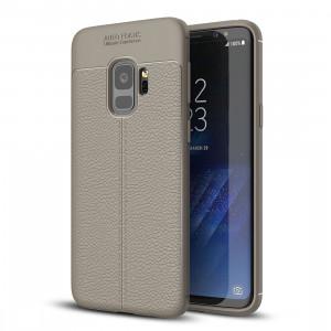 Pour Samsung Galaxy S9 Litchi Texture souple TPU Anti-skip housse de protection arrière, petite quantité recommandé avant Samsung Galaxy S9 lancement (gris) SF123H962-20