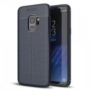 Pour Samsung Galaxy S9 Litchi Texture souple TPU Anti-skip housse de protection arrière, petite quantité recommandé avant Samsung Galaxy S9 lancement (bleu marine) SF23NV71-20