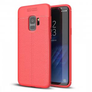 Pour Samsung Galaxy S9 Litchi Texture souple TPU Anti-saut couverture de protection arrière, petite quantité recommandée avant Samsung Galaxy S9 lancement (rouge) SF123R1446-20