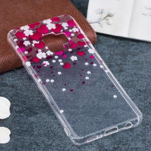 Pour Coques Samsung Galaxy S9 et Motif Fleur TPU Étui de Protection Souple SF329C1364-20
