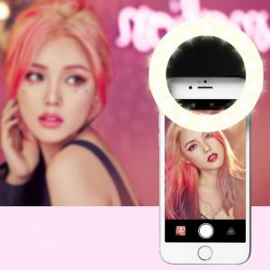 RK14 beauté de l'ancre artefact 3 niveaux de luminosité Selfie Flash Light avec 33 lumières LED, pour iPhone, Galaxy, Huawei, Xiaomi, LG, HTC et autres téléphones intelligents (Noir) SH072B1018-20