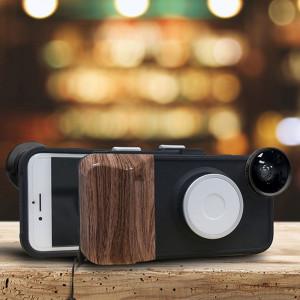 RK23 pour iPhone 6 & 6S 9 cas de luminosité Beauté Cas Selfie Fill Light Beauté, Avec Grand Angle + Macro + Fisheye Lens (Noir) SH806B1459-20