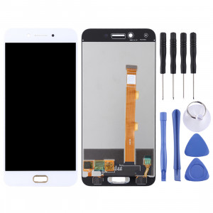 Écran LCD et numériseur Assemblée complète pour OPPO A77 (blanc) SH576W1804-20