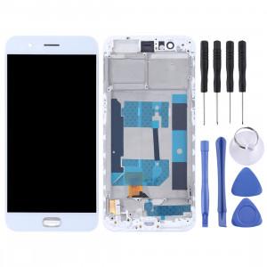 TFT Matériaux Écran LCD et Digitizer Ensemble complet avec cadre pour OPPO R11 (Blanc) SH595W1860-20