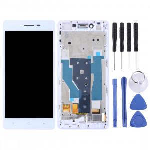 TFT matériaux écran LCD et numériseur complet avec cadre pour OPPO R7 (blanc) SH596W1338-20