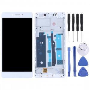 Écran LCD de TFT Materials et numériseur complet avec cadre pour OPPO R7s (blanc) SH597W1724-20