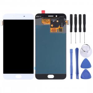 Écran LCD et numériseur Assemblée complète pour OPPO R9s (blanc) SH602W1913-20