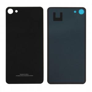 iPartsAcheter Meizu U10 / Meilan U10 couvercle arrière de la batterie de verre avec adhésif (noir) SI70BL1714-20