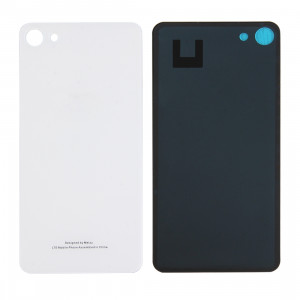 iPartsAcheter Meizu U10 / Meilan U10 Couvercle Arrière de la Batterie en Verre avec Adhésif (Blanc) SI70WL850-20