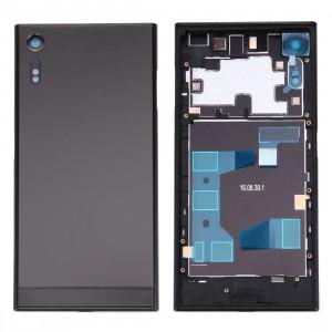 iPartsAcheter pour Sony Xperia XZ Arrière Cache Batterie + Arrière Batterie Cache Inférieur + Cadre Moyen (Noir) SI31BL1523-20