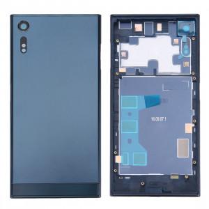 iPartsAcheter pour Sony Xperia XZ Arrière Cache Batterie + Arrière Cache Batterie Inférieur + Cadre Moyen (Bleu Foncé) SI31DL755-20