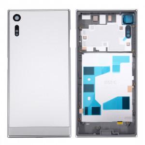 iPartsAcheter pour Sony Xperia XZ Arrière Cache Batterie + Arrière Cache inférieur de la Batterie + Cadre Moyen (Argent) SI31SL1217-20
