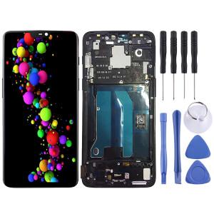 Écran LCD et numériseur complet avec cadre pour OnePlus 6 (noir) SH348B1340-20