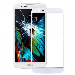 iPartsAcheter pour LG K10 Lentille extérieure en verre (blanc) SI91WL602-20