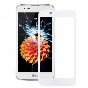 iPartsAcheter pour LG K7 / MS330 Lentille extérieure en verre (blanc) SI96WL1752-20