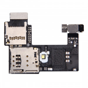iPartsAcheter pour Motorola Moto G (2nd Gen.) (Version SIM unique) Socket de carte SIM + Socket de carte SD SI2154518-20