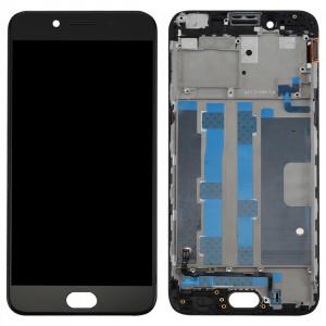 iPartsBuy OPPO R9s Écran LCD (TFT) + écran tactile Digitizer Assemblée avec cadre (Noir) SI270B573-20