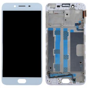 iPartsBuy OPPO R9s écran LCD (TFT) + écran tactile numériseur avec cadre (blanc) SI270W1795-20