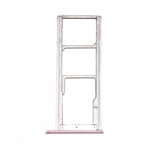 iPartsAcheter pour Asus Zenfone 4 Max / ZC554KL Carte SIM et TF Plateau (Or Rose) SI64RG549-20
