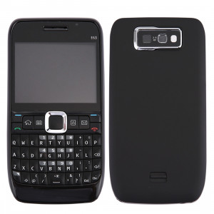 iPartsAcheter pour Nokia E63 Couvercle du boîtier complet (couvercle avant + lunette du cadre du milieu + couvercle arrière de la batterie + clavier) (noir) SI00BL481-20