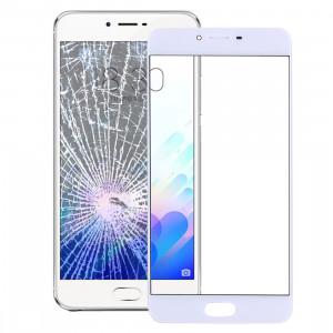 iPartsAcheter Meizu Meilan X Lentille extérieure en verre (blanc) SI713W1194-20