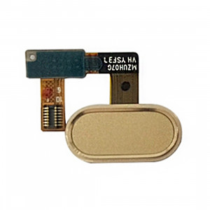 iPartsAcheter Meizu U20 / Meilan U20 Accueil Bouton / Capteur d'empreintes digitales Flex Cable (Gold) SI433J447-20