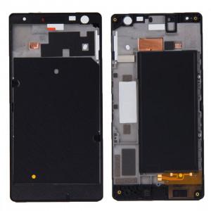 iPartsBuy Avant Logement LCD Cadre Lunette de remplacement pour Nokia Lumia 730 (Noir) SI5001897-20