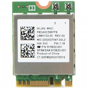 RTL8822BE Adaptateur réseau double bande AC 433M Carte adaptateur réseau sans fil Bluetooth 4.0 pour Dell / ASUS / Toshiba / Sony / Acer SH5210199-20
