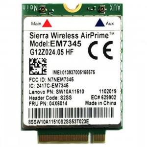 Module EM7345 4G NGFF M.2 Carte WWAN 04 x 6014 Carte 4G LTE / HSPA + 42 Mbps pour Lenovo IBM / ThinkPad T450 / X240 SH52111781-20