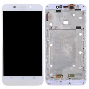 iPartsAcheter pour Asus ZenFone Max / ZC550KL / Z010DA LCD écran + écran tactile Digitizer Assemblée avec cadre (Blanc) SI26WL151-20