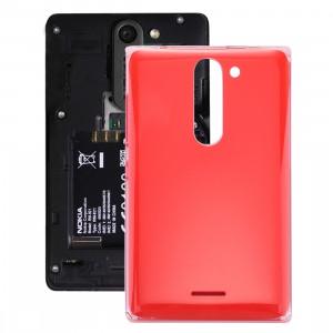 iPartsAcheter pour Nokia Asha 502 Dual SIM couvercle de la batterie arrière (rouge) SI112R1792-20
