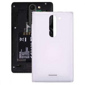 iPartsAcheter pour Nokia Asha 502 Dual SIM couvercle de la batterie (blanc) SI112W1057-20