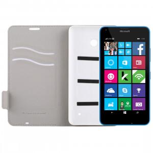 Pour Microsoft Lumia 640 Horizontal Flip étui en cuir avec fente pour carte + couverture arrière (blanc) SP53WL1522-20