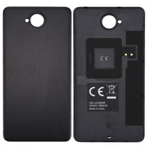 Pour Microsoft Lumia 650 bois Texture batterie couvercle arrière avec autocollant NFC SP56BL679-20