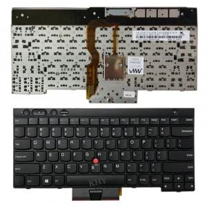 Clavier d'ordinateur portable anglais de version des USA avec des bâtons de pointage pour Lenovo IBM Thinkpad L430 / T430 / T430i / T430S, Teclado 04X1315 / 04X1201 / 04X1277 / 0C01997 SH87691988-20