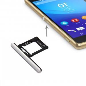 iPartsAcheter pour Sony Xperia XZ Premium (Version Double SIM) Micro SD / Carte SIM Plateau + Carte Slot Port Dust Plug (Argent) SI698S816-20