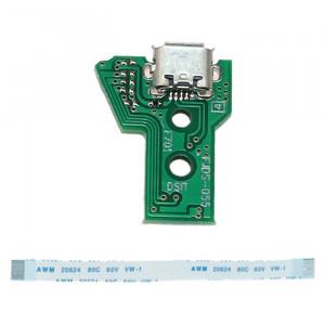 JCD JDS-055 PORTURE DE CHARGEMENT USB avec câble FPC Flex de 12 broches pour PS4 SH327382-20