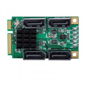Carte contrôleur 4 ports SATA III 6G Mini PCI Express Marvel 88SE9215 SH0112305-20