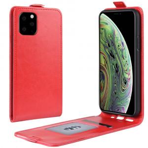 Étui de protection en cuir à rabat vertical Crazy Horse pour iPhone 11 Pro (rouge) SH101C1954-20