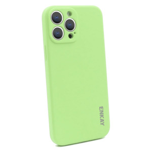 Hat-Prince ENKAY Liquid Silicone Shockproof Protective Case Cover for iPhone 13 Pro Max(Light Green) SE601E184-20