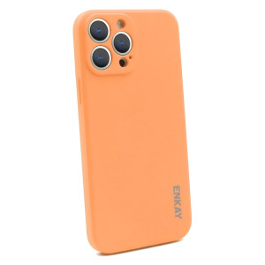 Hat-Prince ENKAY Liquid Silicone Shockproof Protective Case Cover for iPhone 13 Pro Max(Orange) SE601G448-20
