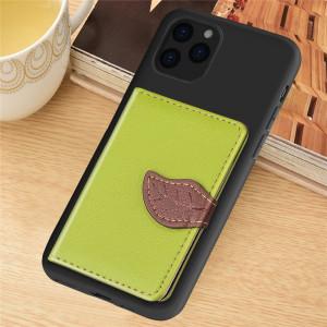 Pour iPhone 11 Pro Max motif de litchi sac de carte support de portefeuille + étui de téléphone TPU avec fente pour carte fonction de support de portefeuille (vert) SH101A1474-20