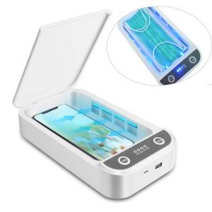 Stérilisation UV Chargeur sans fil multifonctionnel Masque Cleaner Cabinet de désinfection personnelle avec aromathérapie Esterilizador SH92581452-20