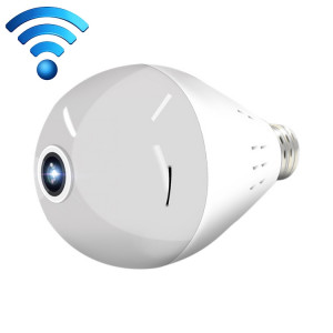E27 Ampoule 360 degrés HD 1080p caméra panoramique panoramique HD WiFi surveillance à distance pour IOS / Android Mobile Phone, détection de mouvement et voix bidirectionnelle (sans carte) SH901D1196-20