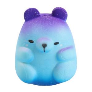 Modèle de hamster de simulation d'unité centrale à rebond lent, artisanat de jouet de décompression doux et malléable (couleur étoilée) SH601B631-20