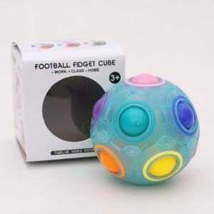 Magic Rainbow Ball Édition Lumineuse Formation Main Cerveau Coordination Fun Cube Jouet Enfants (Bleu Lumineux) SH201A1572-20