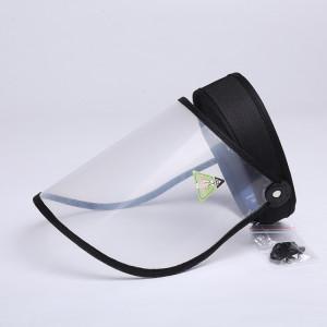 4 PCS Anti-Salive Splash Anti-Crachat Anti-Brouillard Anti-Huile Capuchon De Protection Vide Top Hat Masque Visière Amovible (Noir) SH401A1066-20
